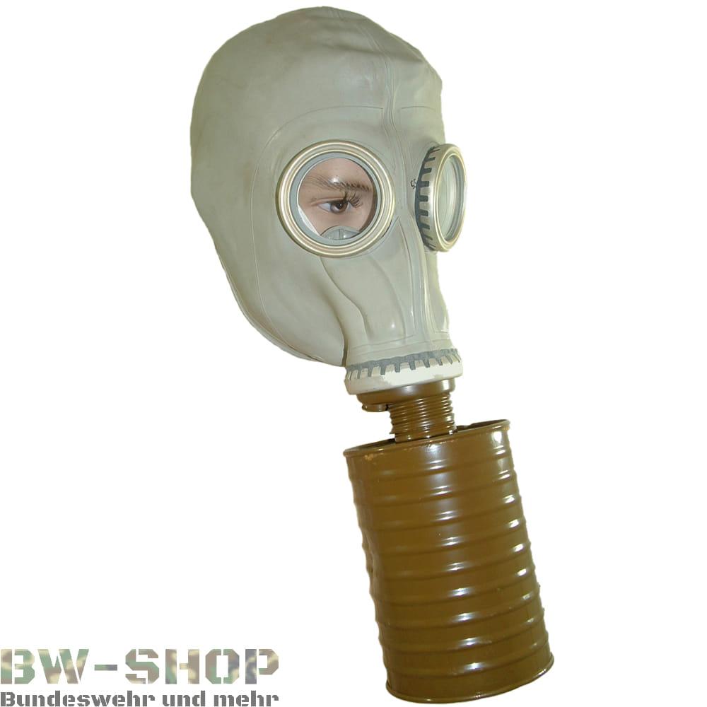 Original NVA Gasmaske grau Latex DDR Schutzmaske