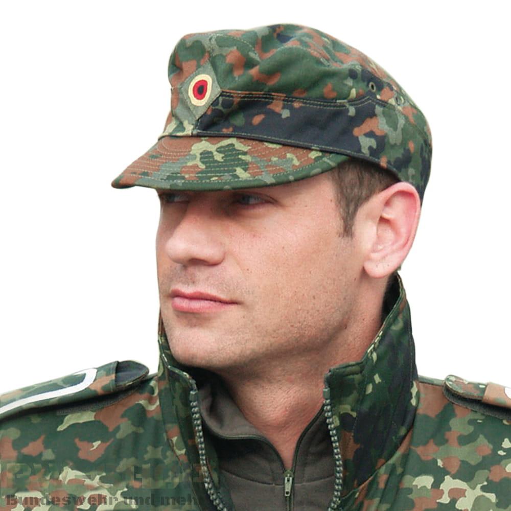 Original Bundeswehr Feldmütze Flecktarn Bw Mütze
