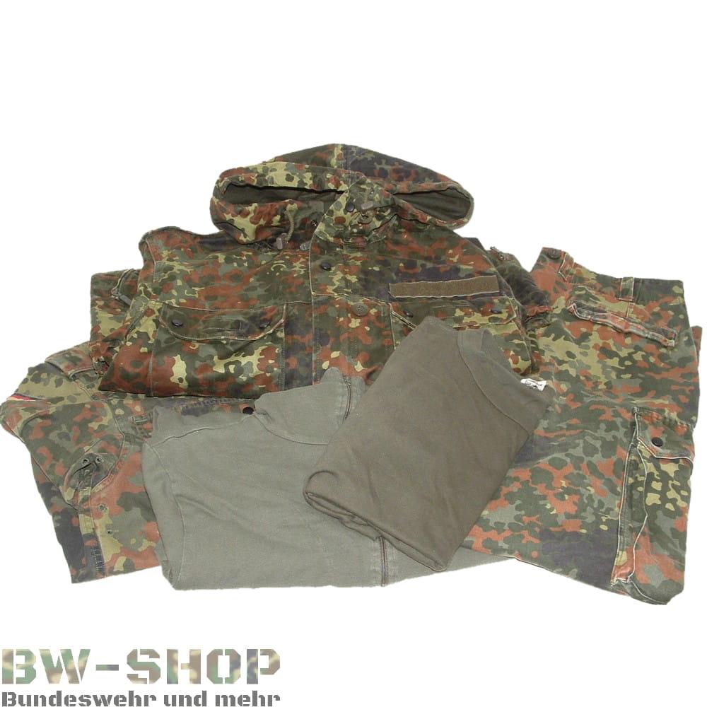 Original Bundeswehr Set Hose + Jacke + T-Shirt + Rolli ( + Parka ) Flecktarn Bw
