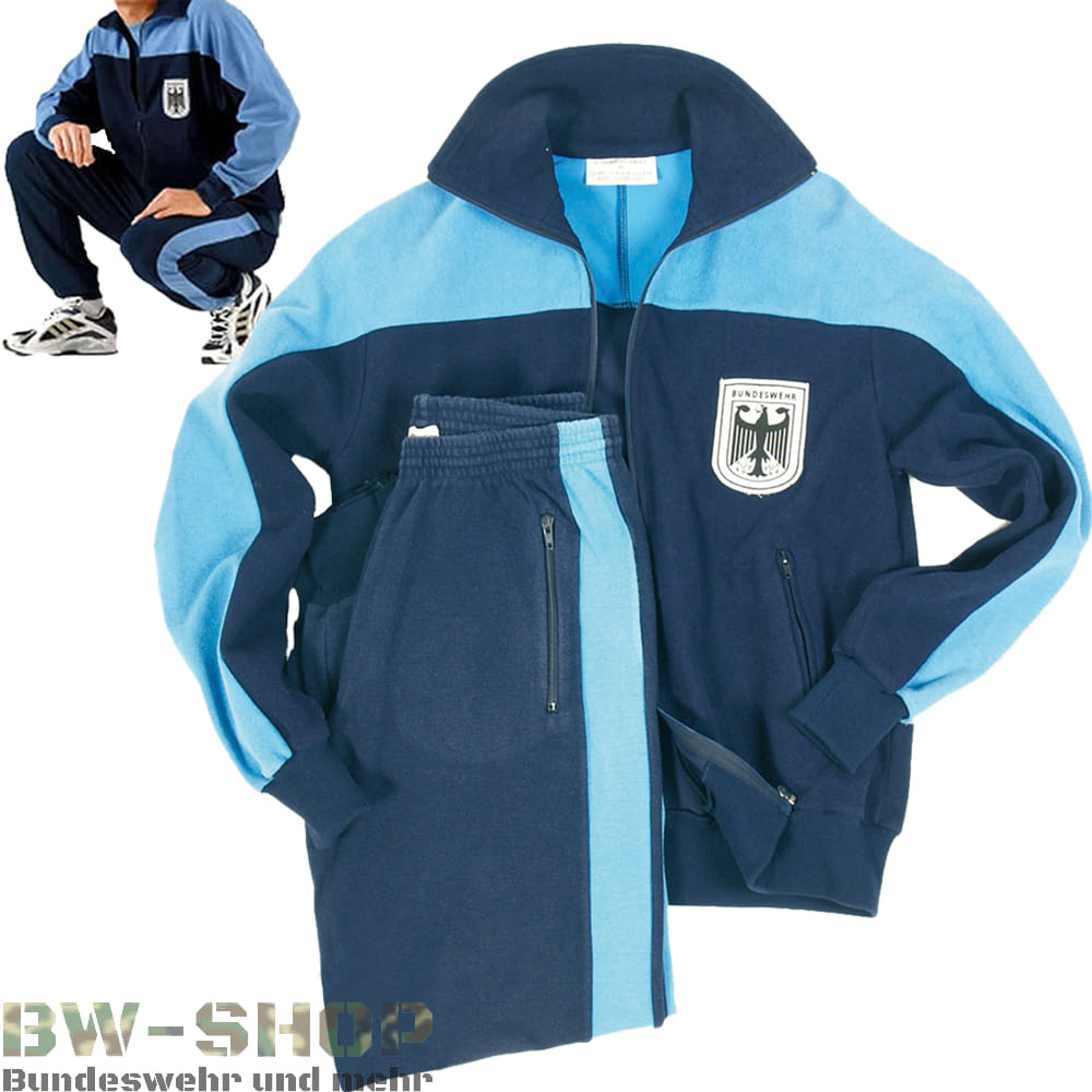 Original Bundeswehr Trainingsanzug blau Bw Sportanzug