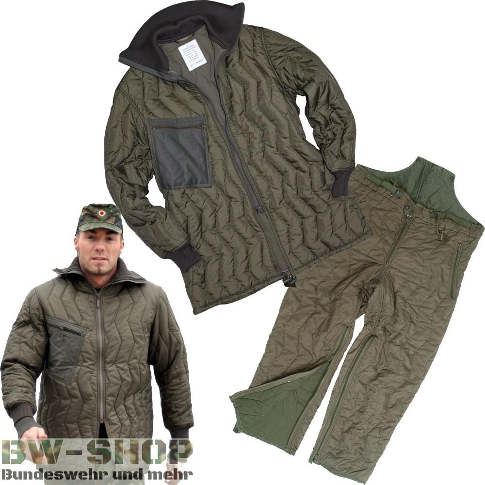 Original Bundeswehr Kälteschutz Anzug Bw Jacke + Hose