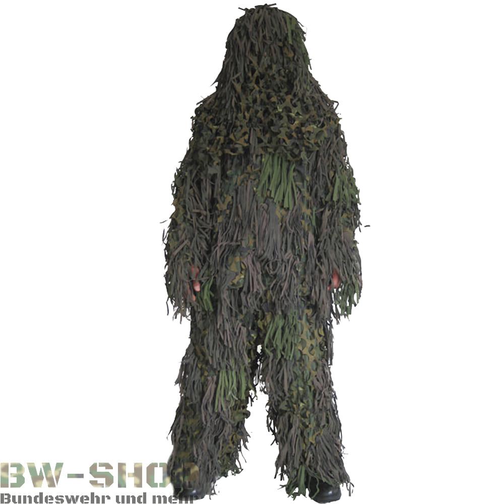 Militär Ghillie Suit Jackal Woodland