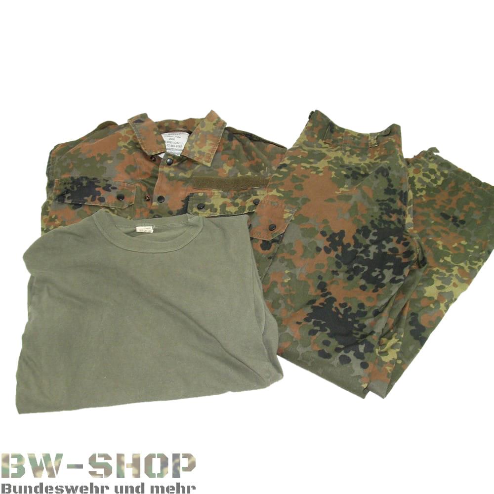 Original Bundeswehr Sommer Set Hose + Jacke + T-Shirt Tropentarn Bw