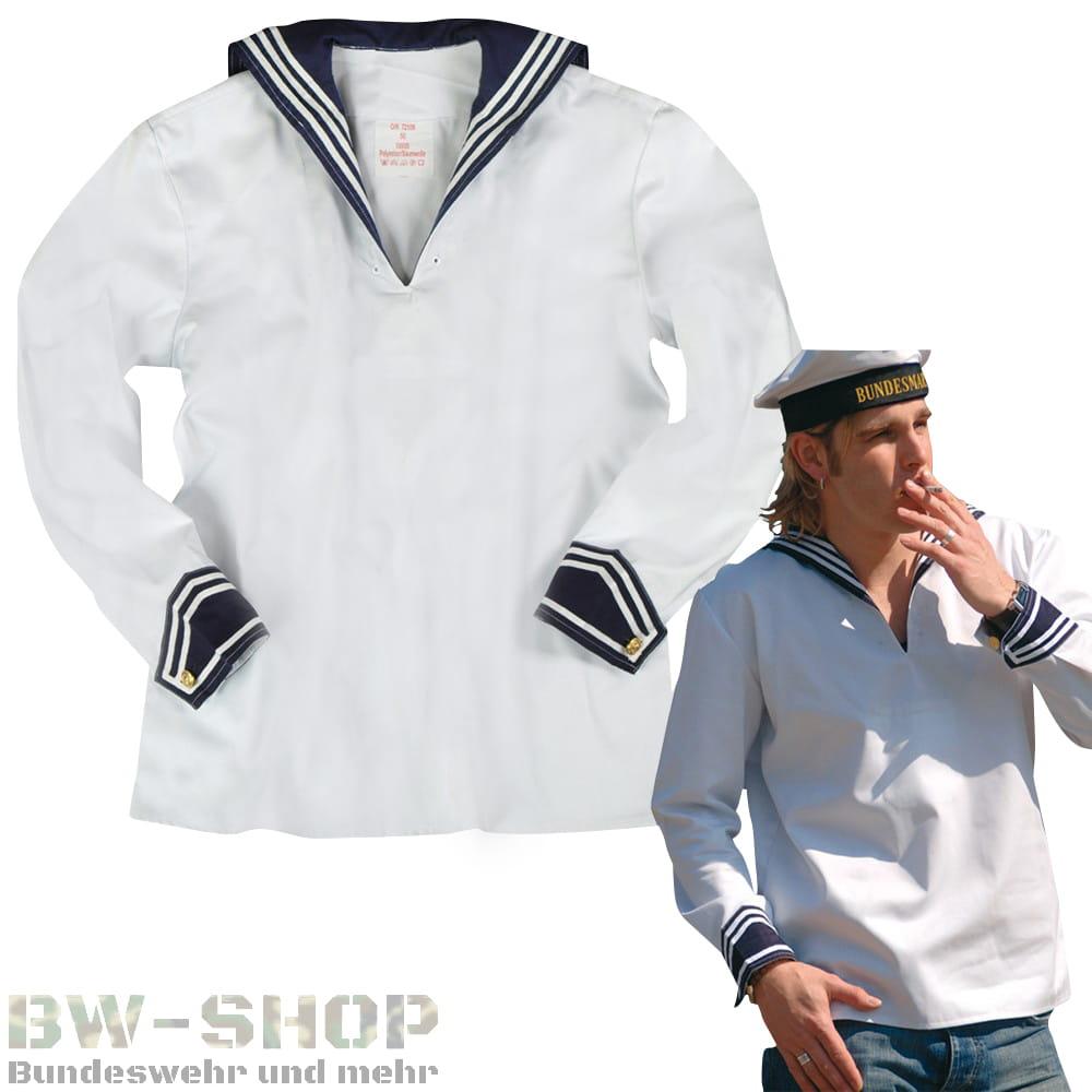 Bundeswehr Marine Bordhemd Weiß