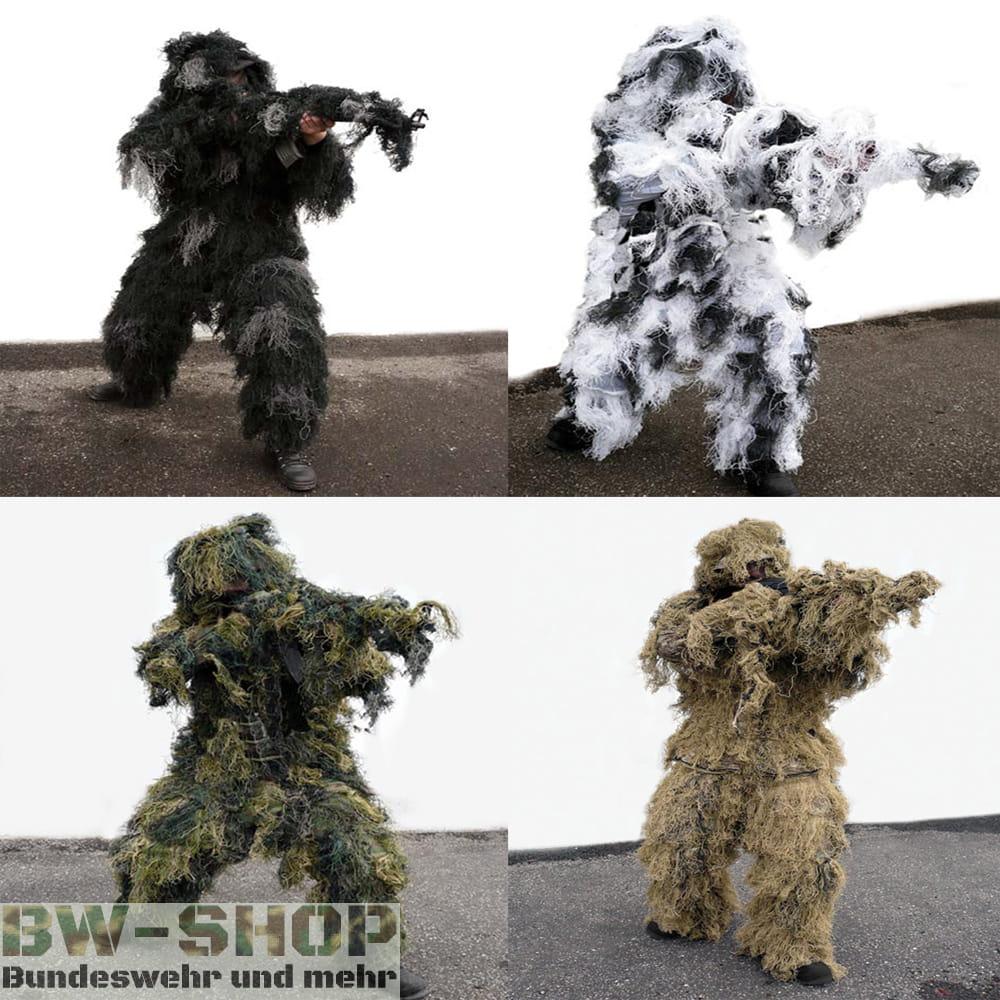 Ghillie Suit Tarnanzug Anti Fire 5-tlg.
