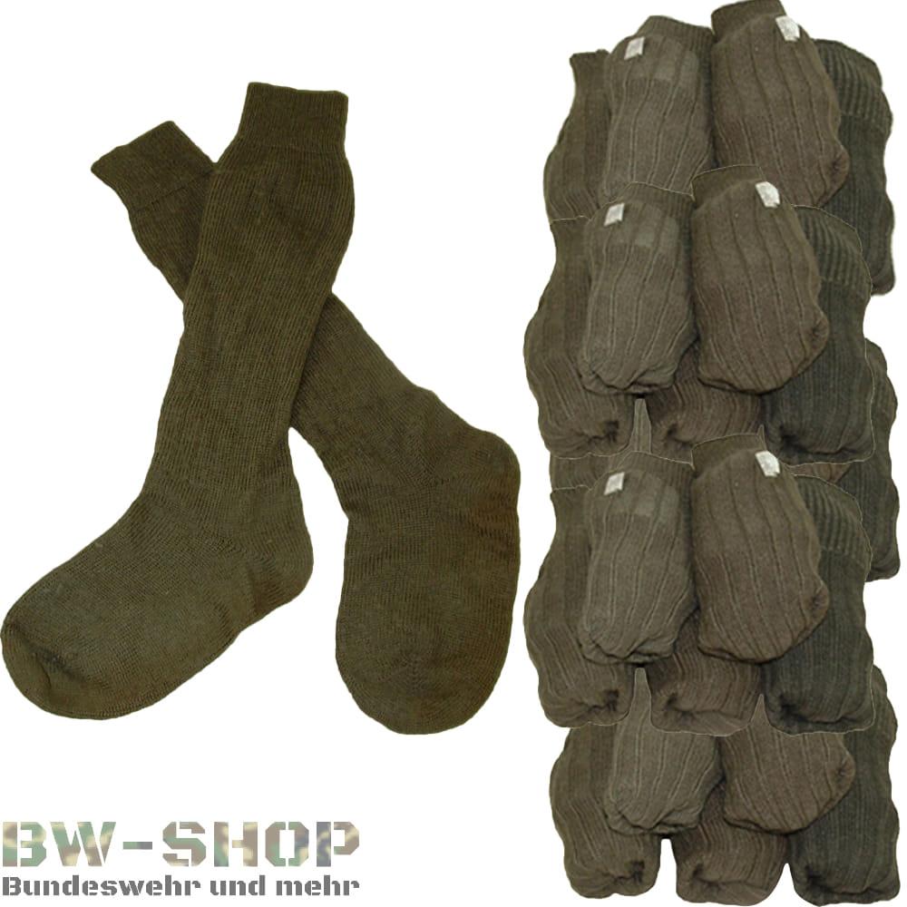 Posten 20, 50er Pack Original Bundeswehr Socken Oliv *2.Wahl*