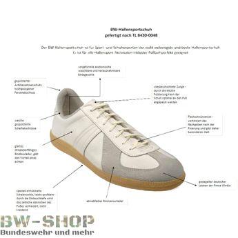 BW Sportschuhe HALLE Bundeswehr Style weiss Sneaker Laufschuhe Turnschuhe