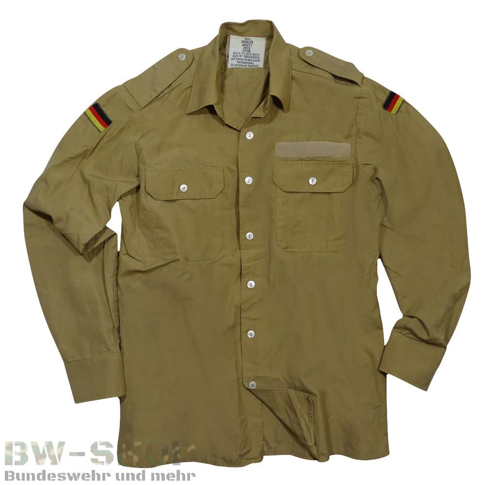 Original Bundeswehr Marine Bordhemd Tropen / khaki