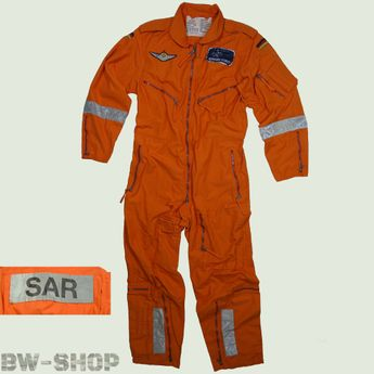 Original Bundeswehr Fliegerkombi orange Gr. 9 (XL) Bw Pilotenkombi Overall