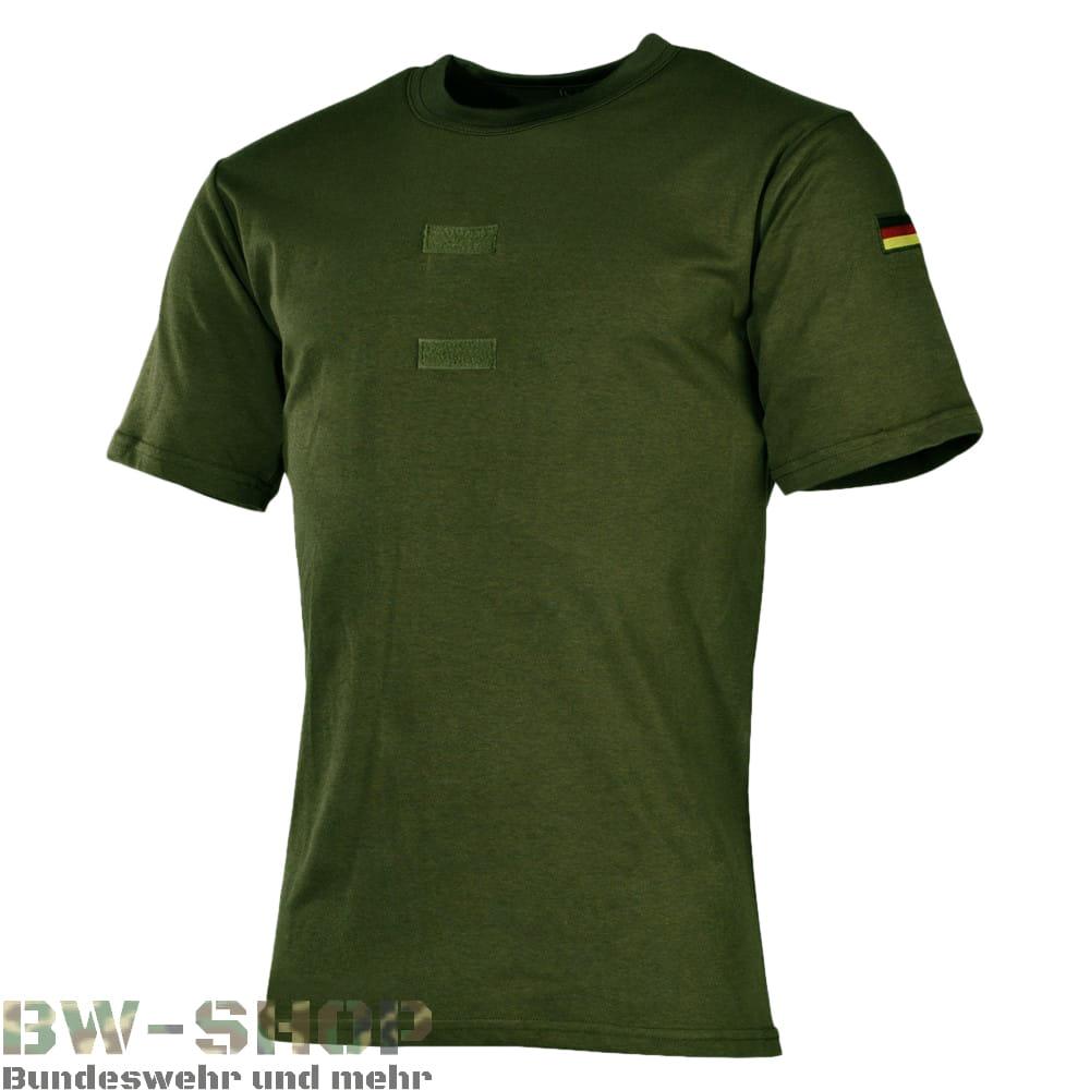 Bundeswehr T-Shirt Tropen mit Flaggen & Klett Oliv