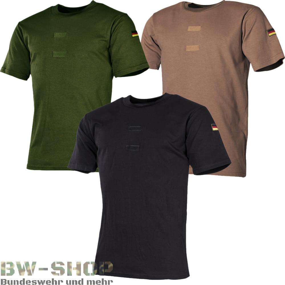 Bundeswehr T-Shirt Tropen mit Flaggen & Klett