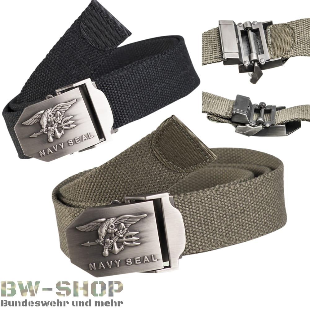 US Navy Seal Gürtel oliv & schwarz Textil Neu US Hosengürtel