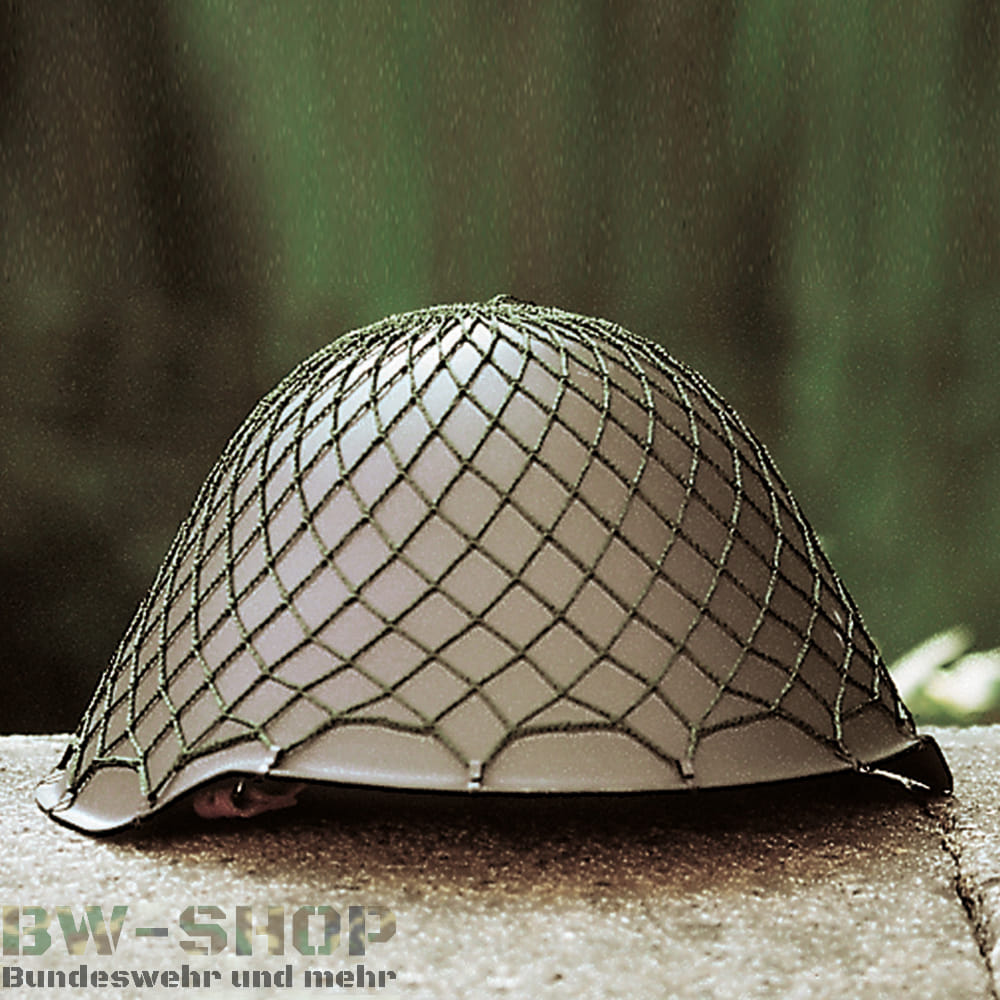 Original NVA Stahlhelm mit Tarnnetz DDR Helm