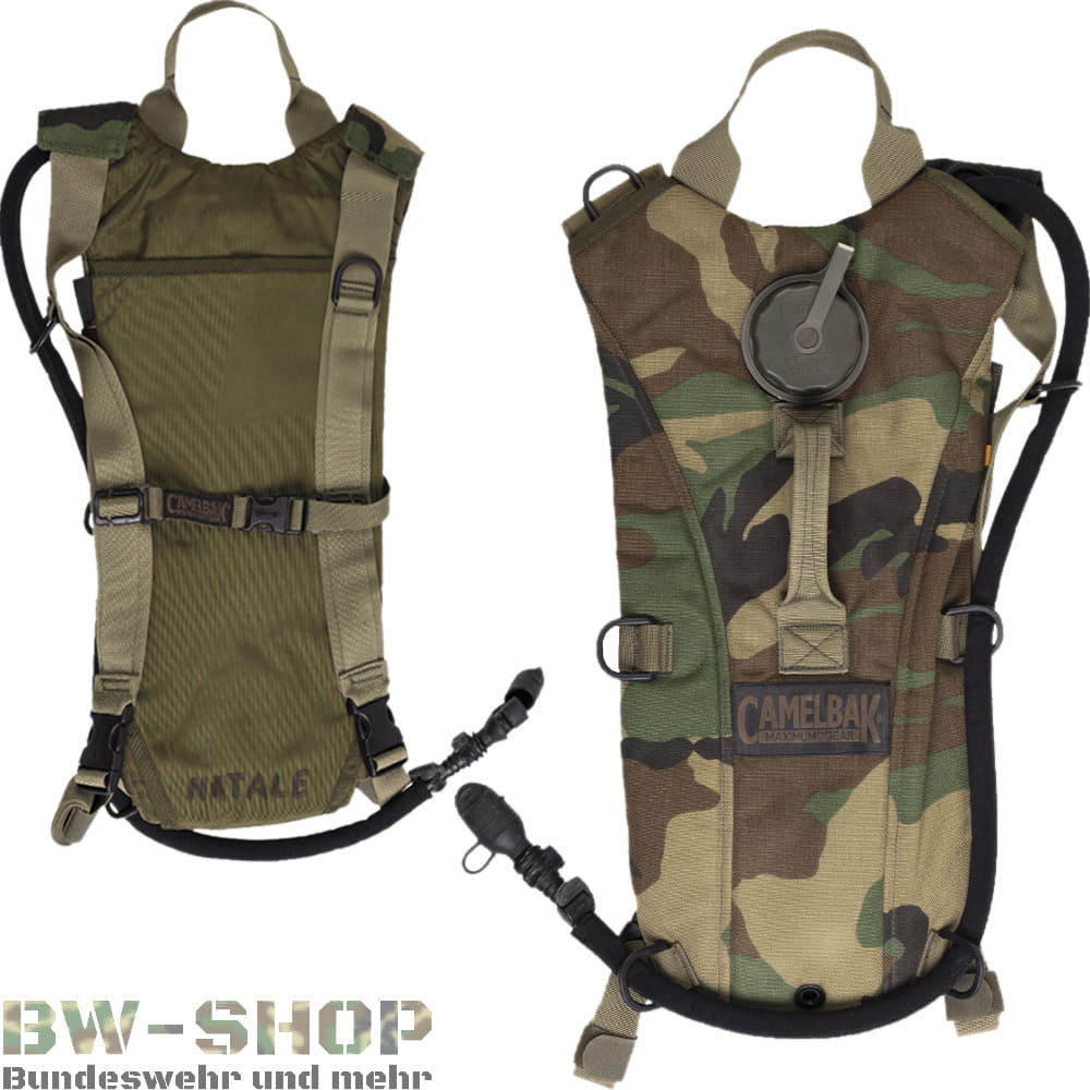 Original US Army Camelbak 3,0L Woodland Hydration Pack