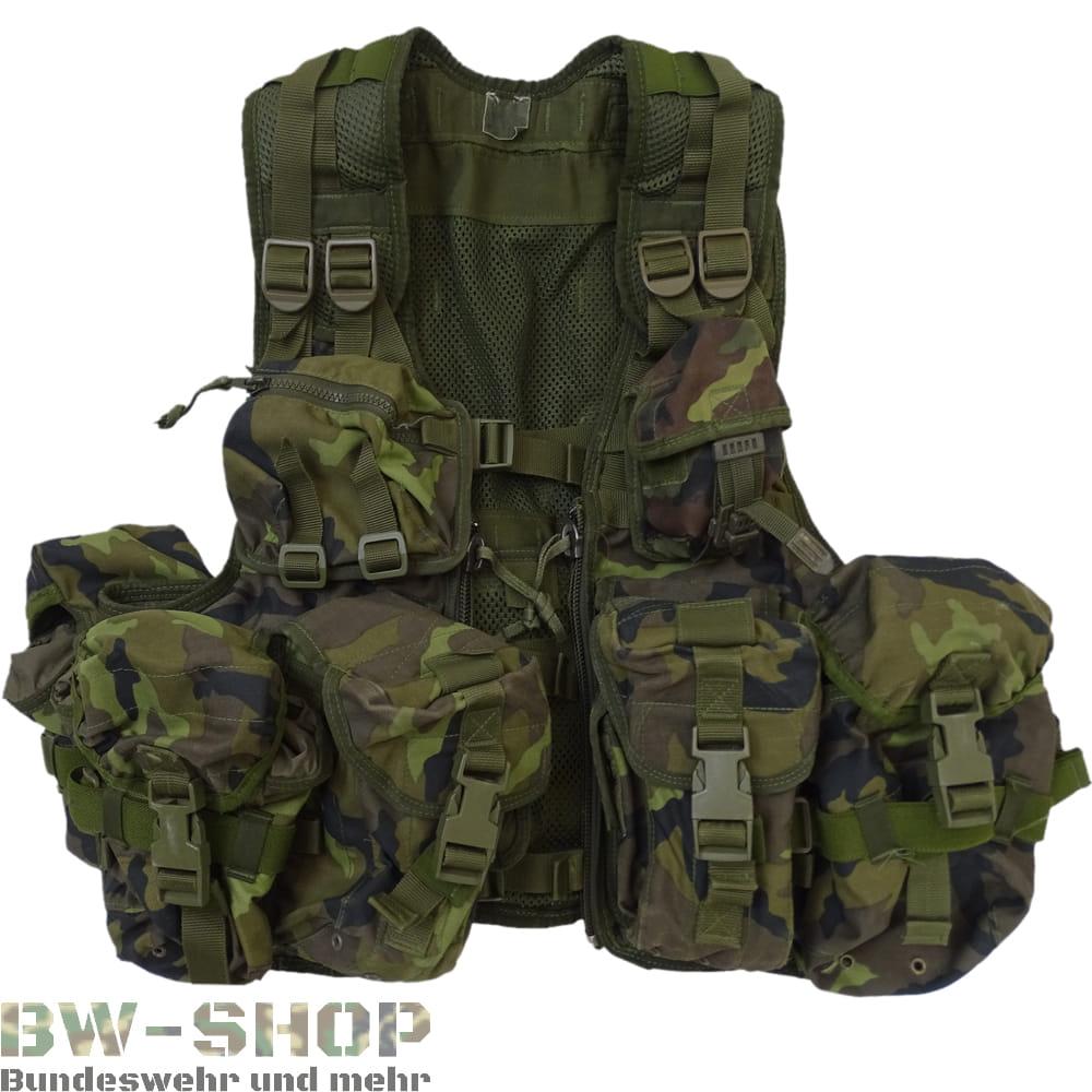 NEU Original CZ Armee Tactical Weste DESERT Einsatzweste mit Taschen System BW