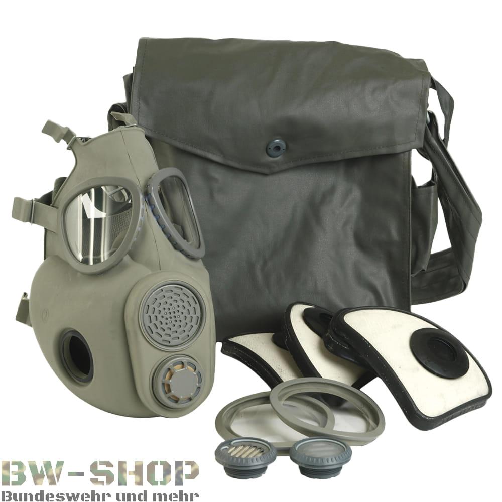 Original Tschech. Armee Schutzmaske M10 mit Filter & Zubehör CZ Army ABC Gasmaske Atemschutz Maske
