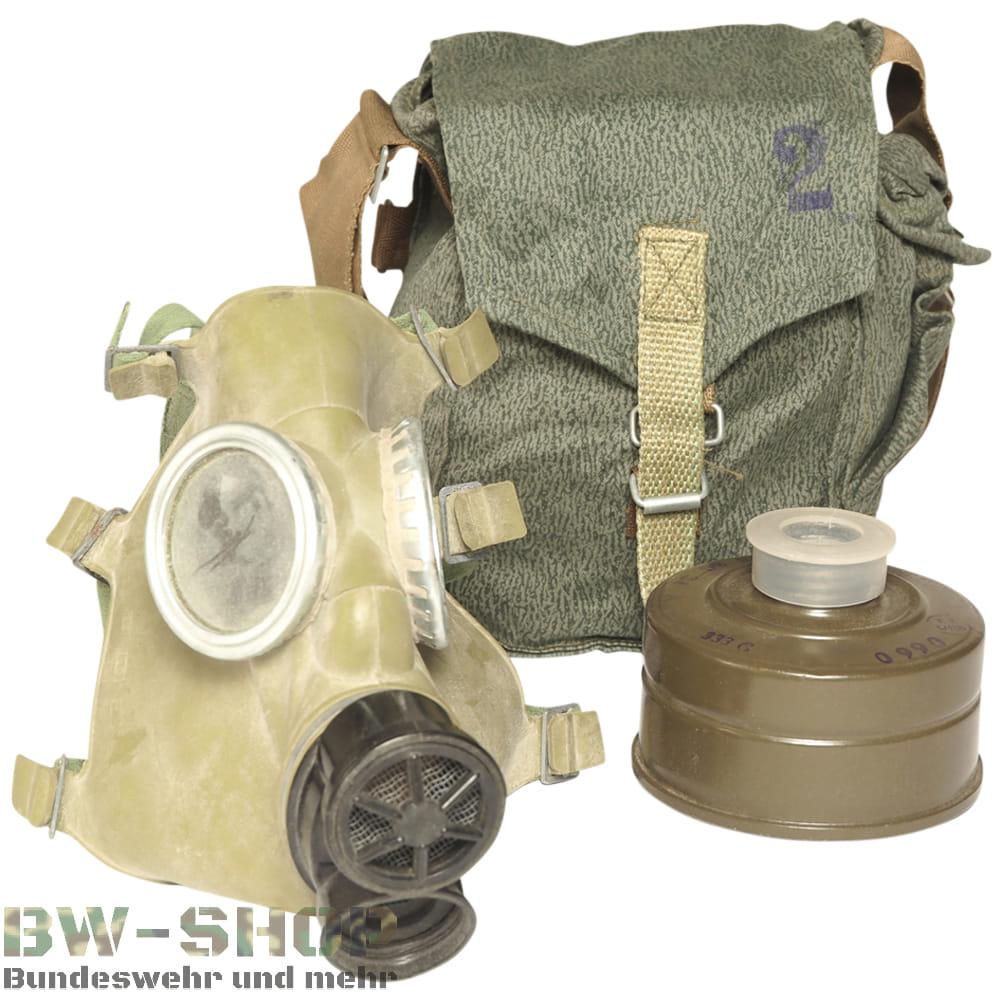 Original Poln. Armee Schutzmaske MC-1 mit Filter & Tasche Army ABC Gasmaske Atemschutz Maske