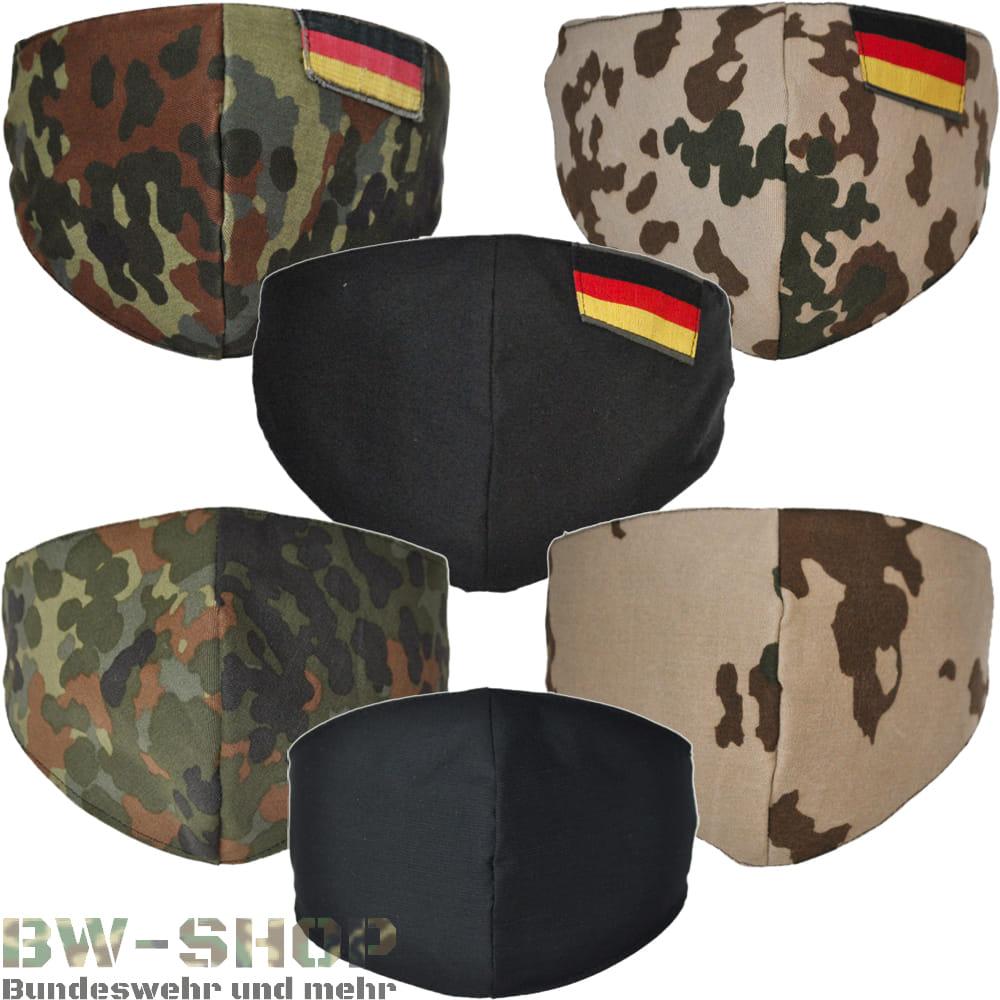 Bundeswehr Maske Bw Mund-Nase-Maske Gesichtsmaske waschbar