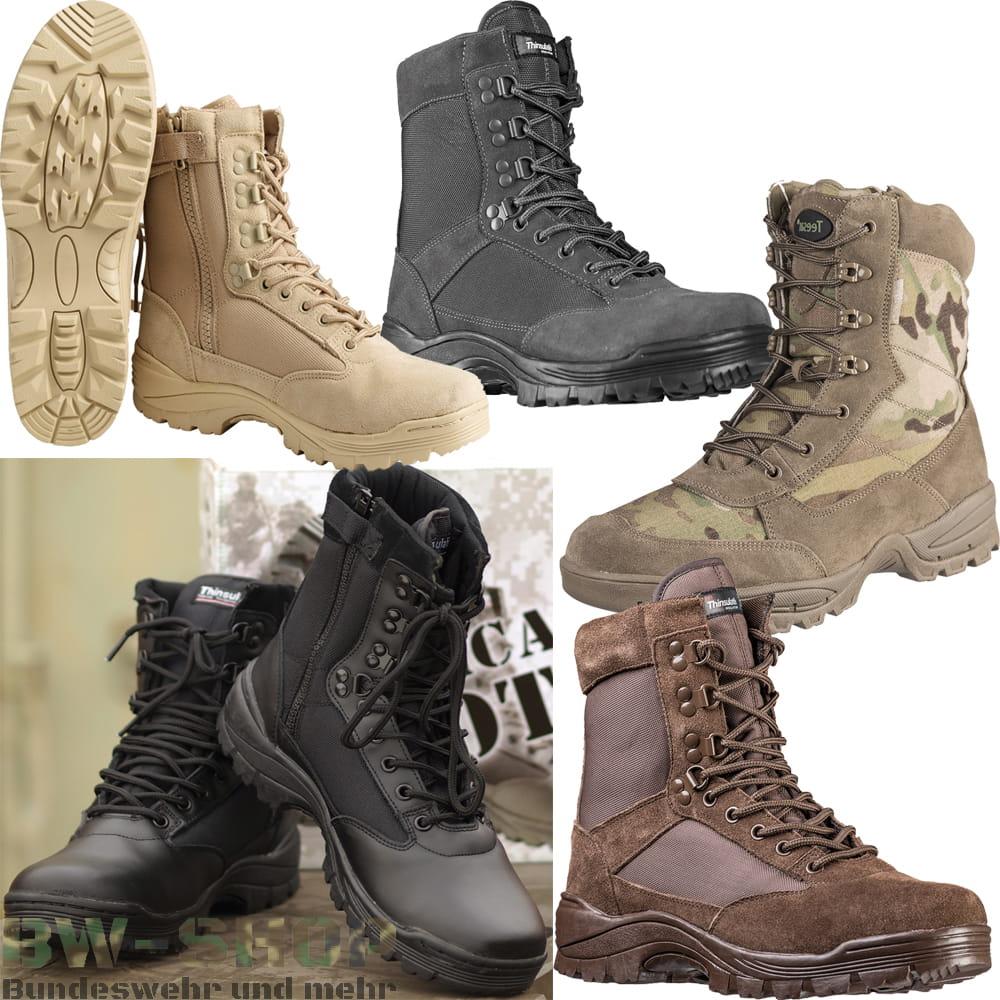 Army Tactical Boot mit Zipper Outdoor Stiefel US Einsatzstiefel + RV
