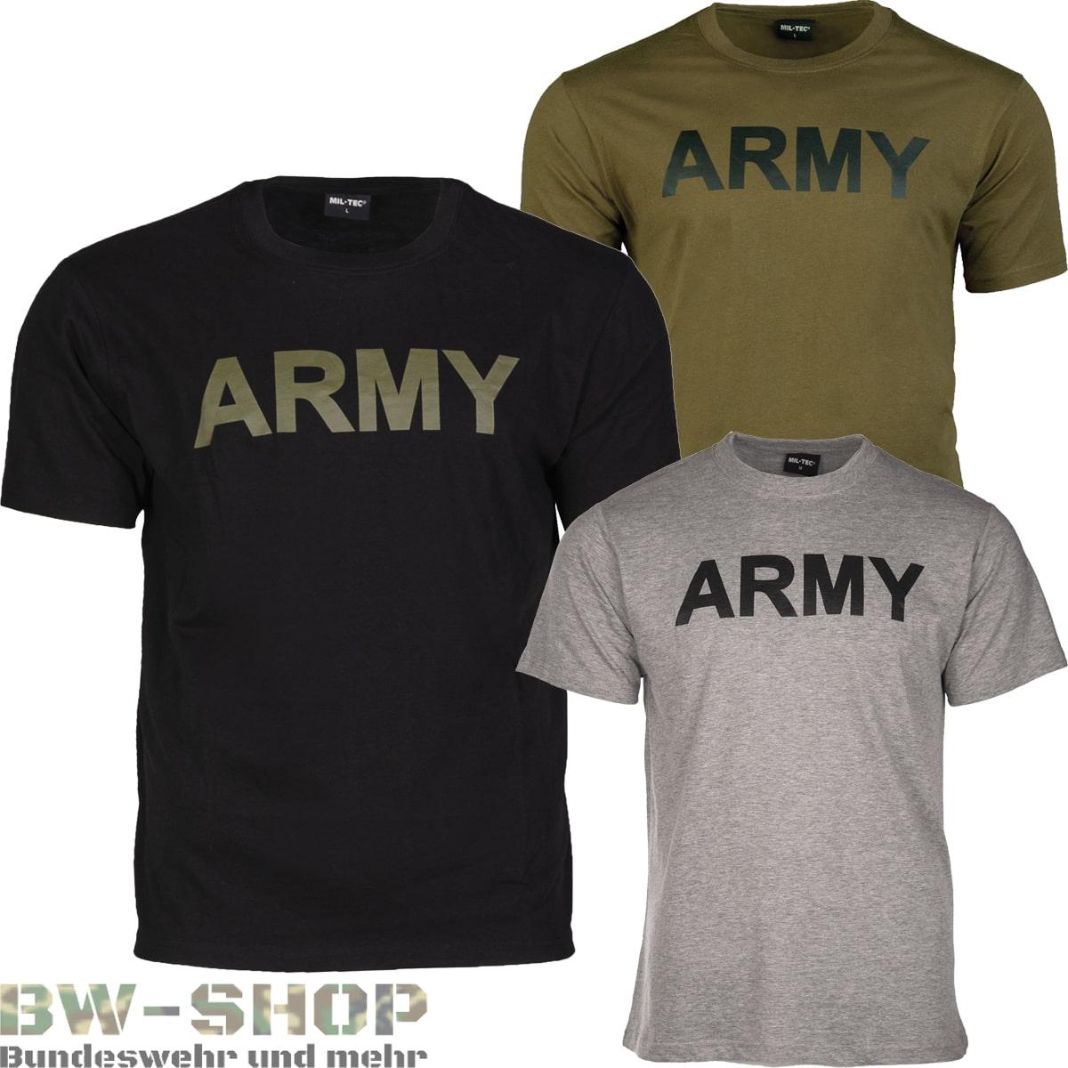 US T-Shirt Army bedruckt